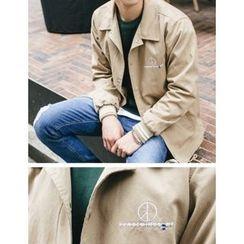 STYLEMAN - Drawstring-Waist Button-Front Jacket
