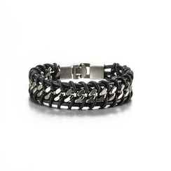 Trend Cool - Chained Woven Bracelet