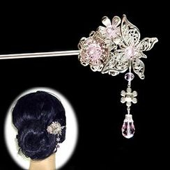 Paparazzi - Butterfly Dangling Hair Pin