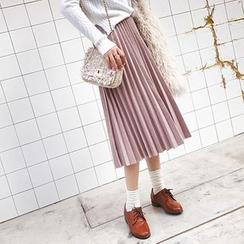 Deerie - Pleated Midi Skirt