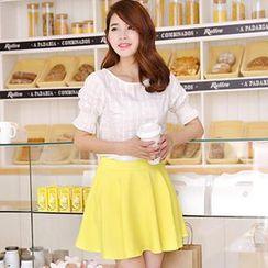 Hanee - Set: Plaid Top + Skirt