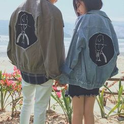 JUN.LEE - Couple Matching Denim Jacket