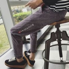 Masowild - Slim Fit Corduroy Pants