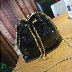 Lamia - Croco Bucket Bag
