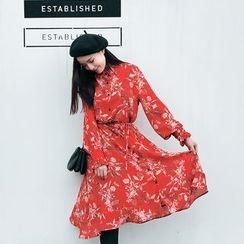 Kofushi - Floral Print Chiffon Dress