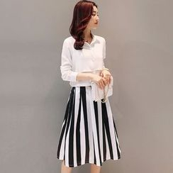 Maine - 套裝:襯衫 + 條紋裙