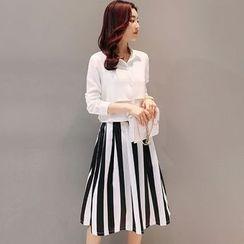 Maine - 套装:衬衫 + 条纹裙