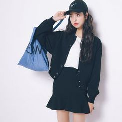 Everies - Set: Baseball Jacket + Ruffle Skirt