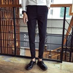 Mitouomo - Plain Slim-Fit Pants