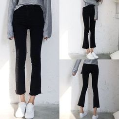 Melon Juice - Boot Cut Cropped Jeans