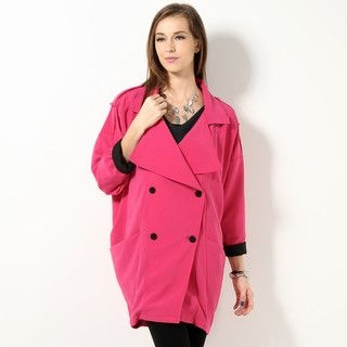 YesStyle Z - Double Breasted Wrap Coat
