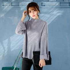 Tokyo Fashion - Long-Sleeve Loose-Fit Knit Top
