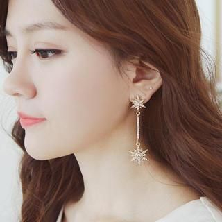 soo n soo - Rhinestone Drop Earrings