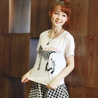 rico - Short-Sleeve Zebra Print T-Shirt