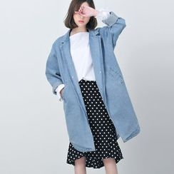 BORAN - Denim Trench Jacket