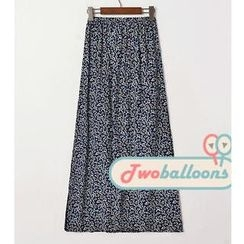 JVL - Slit-Side Floral Maxi Skirt