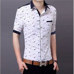 JIBOVILLE - Short-Sleeve Print Shirt