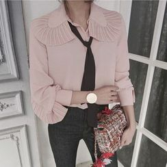 11.STREET - Frilled Collar Shirt