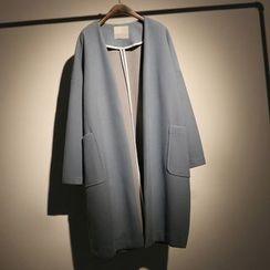 somniaa - Pocketed Woolen Long Coat