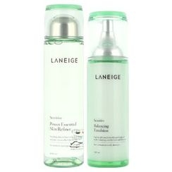 Laneige - New Basic Set For Sensitive Skin : Power Essencial Skin Refiner 200ml + Balancing Emulsion 120ml