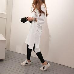 NANING9 - Oversized Elbow-Sleeve Dress