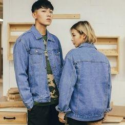 Simpair - Couple Matching Washed Denim Jacket
