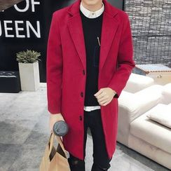 JVI - Notch Lapel Long Woolen Coat