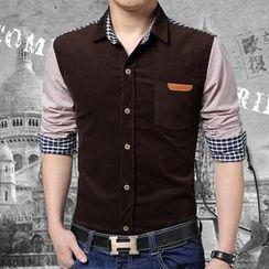 Gurun Vani - Corduroy Panel Shirt