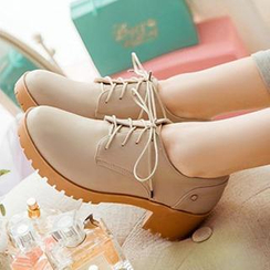 CITTA - Block Heel Lace-up Shoes