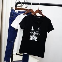 Polaris - Dog Printed Short-Sleeve T-shirt