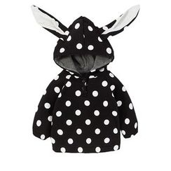 MOM Kiss - Baby Rabbit Ear Dotted Hoodie