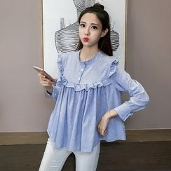 Bloombloom - Frilled Long-Sleeve Top