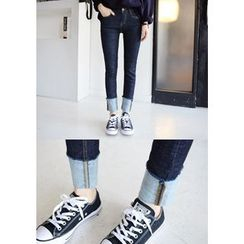 DEEPNY - Turn-Up Hem Skinny Jeans