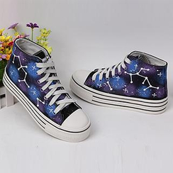 HVBAO - Painted Stars Canvas Sneakers