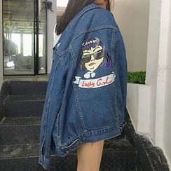 OCTALE - Printed Denim Jacket