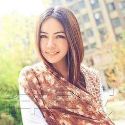 羚羊早安 - 豹紋印花圍巾