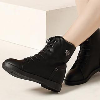 Exull - Lace-Up Wedge Ankle Boots