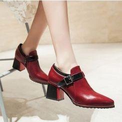 Freesia - Chunky Heel Loafers