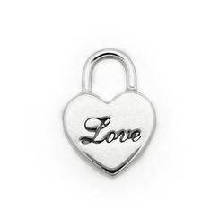 MBLife.com - 925 Sterling Silver Polished Finish Love Heart and Lock Single Stud Earring