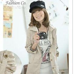 Tokyo Fashion - Tab-Sleeve Hooded Long Jacket