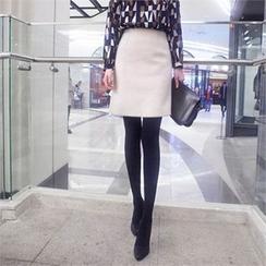 Styleberry - Wool Blend Pencil Skirt