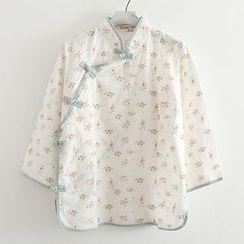 ninna nanna - 3/4-Sleeve Floral Blouse