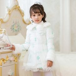 Candy Rain - Kids Padded Long Coat