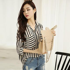 Romantica - Striped Chiffon Shirt