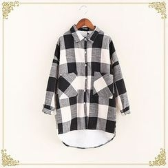 Fairyland - Fleece Lined Check Long Shirt