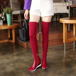 JY Shoes - Wedged Over-the-Knee Boots