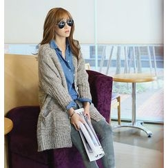 REDOPIN - V-Neck Knit Coat