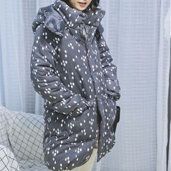Moricode - Print Hooded Padded Coat