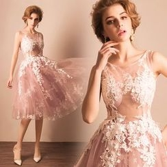 Angel Bridal - Crochet Mini Prom Dress