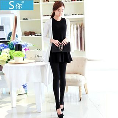 Shopin - Fleece-Lined Stirrup Leggings